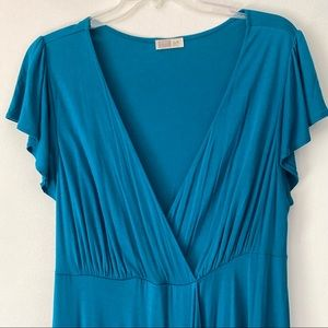 Old Navy Faux Wrap Dress with Cap Sleeves Size L